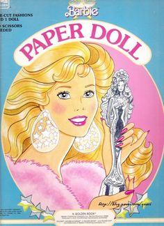 Beauty Queen Barbie Paper Doll, Golden (1 of 7) |  핑크빛 드레스가 너무나 사랑스러운 바비에요~