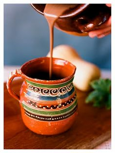 Mayan Hot Chocolate...the first chocolate beverage is believed to have been created by the Mayans 2000 years ago.