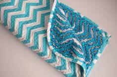 Aesthetic Nest: Sewing: Chevron Chenille Baby Blanket (Tutorial)