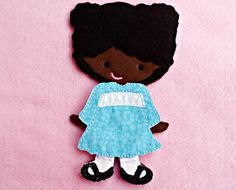Felt Doll LuLu Doll Non Paper Doll Doll with by ChameleonGirls