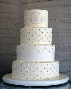 Monogram Wedding Cake Best Ideas Design