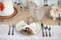 burlap napkins | CHECK OUT MORE IDEAS AT WEDDINGPINS.NET | #wedding