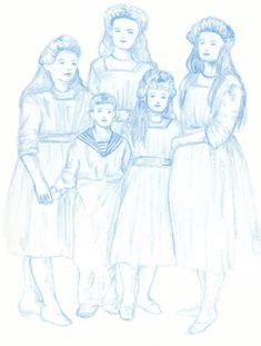 The Romanov Children.  Scott Keenan, 2015.  #romanovs #illustration #art