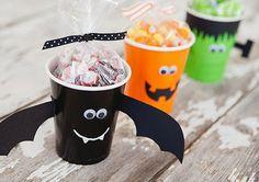 Vasos costumizados para Halloween