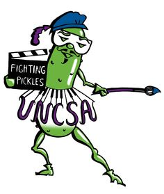 North Carolina School Of The Arts - Fighting Pickles-Strangest College Mascots Funny Team Names, High School Mascots, Professional School, Wake Forest University, Sports Humor, Sports Logos, Funny Sports, Athletic Events