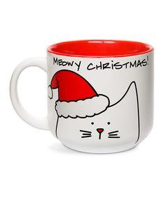 Look what I found on #zulily! 'Meowy Christmas!' 18-Oz. Ceramic Mug #zulilyfinds