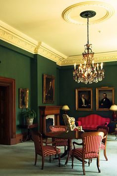 Campbell House (1822), Toronto. Photo credits: Overwater Photography, via Flickr. Photography Photos, Georgian, Regency, Colonial, Toronto, Chandelier, Ceiling Lights, House, Furniture