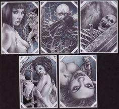 'DRACULA' Sketch Cards Comic Art