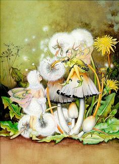 Fairy and fantasy art images, fairy pictures & drawings, flower and butterfly illustrations from Fairies World. Fairies World, Fairy & Fantasy Art Gallery - Myrea Pettit/Winter Outfit© Woodland Creatures, Magical Creatures, Fantasy Kunst, Fantasy Art, Brian Froud, Elves And Fairies, Vintage Fairies, Love Fairy, All Nature