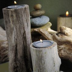 Driftwood Candleholder tutorial - Heather Ross