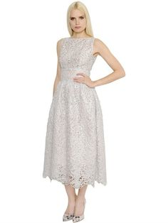 INGIE SHINY SPIRAL LACE & ORGANDY DRESS, SILVER. #ingie #cloth #dresses