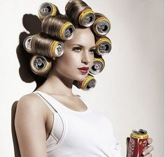 Soda Can Hair Rollers