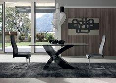 cool Salle à manger - Table de salle à manger design rectangualaire avec plateau en verre tremp&#...