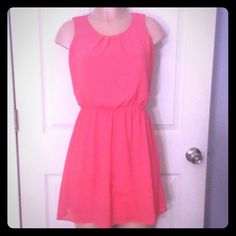 Coral short dress Cute dress. Forever 21 Dresses