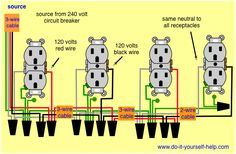 Basic electrical wiring diagrams. Deck lights & outlets