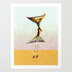 cut out for a dance Art Print by Pia Schneider [atelier COLOUR-VISION]