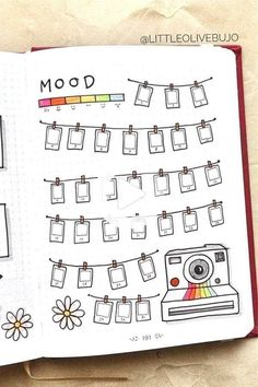 Bullet Journal Mood Tracker Setup & Adorable Inspiration Looking to setup you bullet journal mood tracker and need some awesome inspiration? This quick guide and ideas will get you started on the right page! Bullet Journal Flowers, Bullet Journal Spreads, March Bullet Journal, Bullet Journal Headers, Bullet Journal Cover Page, Bullet Journal Hacks, Bullet Journal Notebook, Bullet Journal Themes, Bullet Journal Layout