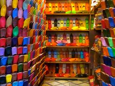 Moroccan shoe store (photo by Janmarie Haggar)