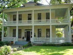 plantation home, wrap around porch, yellow. my dream home.