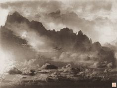 A work by the photographer Lang Jingshan, 61×39.7cm, 1987. Photo provided to China Daily Clouds, Abstract, Artwork, Outdoor, Photos, China, Artist, Photography, Summary
