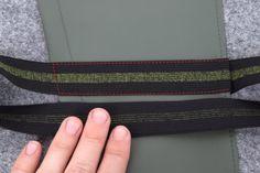Tablethülle selber nähen, Gummi auf Tasche steppen Continental Wallet, Zip Around Wallet, Back Stitch, Artificial Leather, Tutorials, Bags
