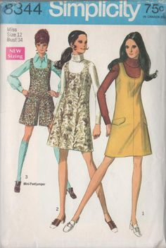Vintage 60s Sewing Pattern Simplicity 8344 Womens by sandritocat
