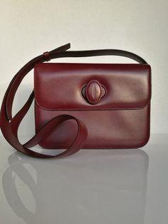 2d7978fe7e73 CARTIER Bordeaux Leather Crossbody Shoulder Bag by DelpheneAvenue Crossbody  Shoulder Bag