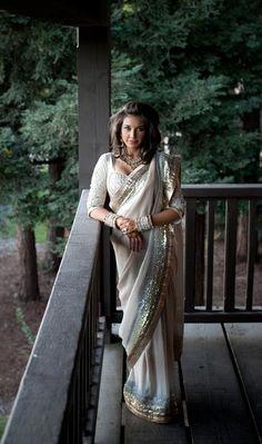 Lisa Ray wedding sari by Satya Paul