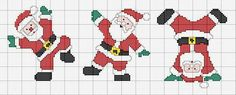 Babbo natale Cross Stitch Christmas Cards, Santa Cross Stitch, Cross Stitch Cards, Christmas Cross, Cross Stitching, Cross Stitch Embroidery, Cross Stitch Patterns, Santa Crafts, Plastic Canvas Christmas