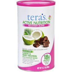 Teras Whey Protein Powder Casein And Whey Active Nutrition Recovery Blend Fair Trade Certified Dark Chocolate 12.5 Oz