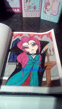 Vampirella Book - Enchanted Halloween Artist - Hannah Lynn Media - Prismacolor Premiers
