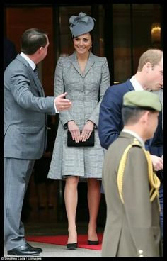 The Duchess of Cambridge welcomed the President of Singapore and his wife to the UK today.
