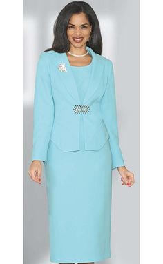 Lily and Taylor 3867 - Three Piece Skirt Suit With Crepe Fabric
