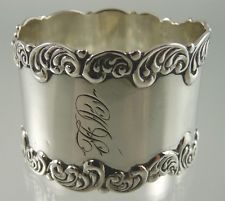 napkin ring in Antique Sterling Silver Silver Napkin Rings, Old And New, Cuff Bracelets, Napkins, Sparkle, Sterling Silver, Antiques, Jewelry, Antiquities