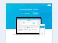 Landing page for online conference product  We're available for new projects — Contact us