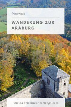 Die Araburg ist ein tolles Ausflugsziel für die ganze Familie! Egal, ob Sommer, Herbst oder Winter, ein paar schöne Stunden sind bei dieser Wanderung im Wienerwald garantiert. Go Outdoors, Camping, Painting, Travel, Tricks, Winter, Group, Nature, Europe