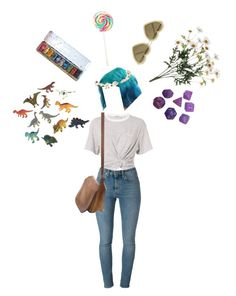 """""""Anywhere"""" by thewitchishere on Polyvore featuring T By Alexander Wang, Yves Saint Laurent, Cult Gaia, Coach, Markus Lupfer and Dinosaurs"""