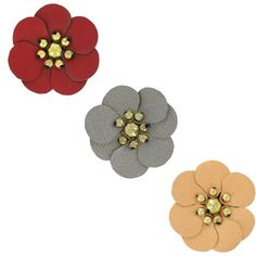 Jolies fleurs en simili cuir à coudre sur vos accessoires, sac, vêtements ou bijoux DIY ! A shopper ici >>> http://www.perlesandco.com/advanced_search_result.php?keywords=fleur+en+simili+cuir&save=