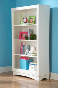 paint bookcase from downstairs hallway and put into nursery?