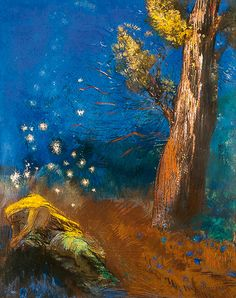 Odilon Redon ~ The Death of Buddha, 1899