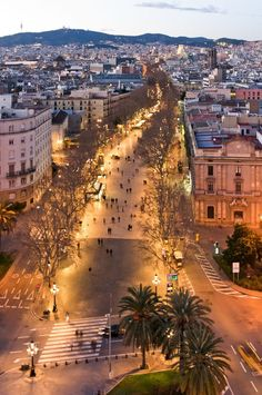 La Rambla, Barcelona Lively all night and starts with dinner 10 pm or later Barcelona City, Barcelona Travel, Barcelona Las Ramblas, Barcelona Catalonia, Places Around The World, Travel Around The World, Around The Worlds, Madrid, Cool Places To Visit