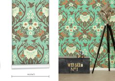 WR0137JD - Antler Damask Wallpaper. Classic wallpaper that never goes out of style, but always open to a fresh and modern reinterpretation.