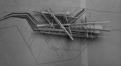 Concept / model building by architect christopher crephead. Concept Models Architecture, Architecture Student, Architecture Design, Arch Model, 3d Models, Model Building, Design Model, Deconstructivism, Architectural Models