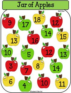 Free Jar of Apple Games- 2 addition games and 1 multiplication game