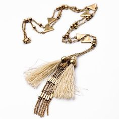 $6.65 - Trendy Women's Solid Color Tassel Embellished Sweater Chain Necklace - Jewelry Wholesale - Wholesalerz.com