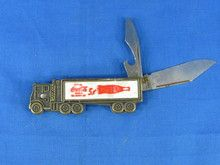 """Coca-Cola vintage pocket knife semi truck design manufactured by 'Colonial"""""""