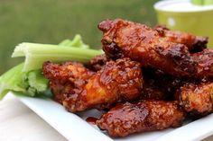 Big Bears Wife: Honey BBQ Wings and Cool Ranch #SundaySupper