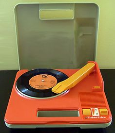 old school fisher-price record player I wanted this one for Layla soo bad but settled for a new reproduction