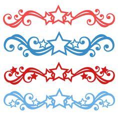 Patriotic Flourish Set SVG scrapbook cut file cute clipart files for silhouette cricut pazzles free svgs free svg cuts cute cut files