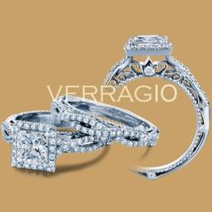 Verragio Venetian-5005P Platinum Engagement Ring Just dont know about all the extra design on the inside of the band on verragios